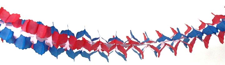 舗 お誕生日 結婚式 二次会 店舗装飾 飾りつけ 女子会 ファーストバースデー ウェディング 冬のかざり 青色 赤色 ブルー 飾り付け デコレーション ガーランド 日本製 紙製 300cm パーティーグッズ 4点までネコポスOK チープ レッド