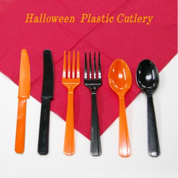 ハロウィーンカラーのカトラリー ハロウィンパーティー 黒 橙 食事会 プラナイフ プラスプーン 日本最大級の品揃え プラフォーク 子ども会 アウトドア イベント ディスプレイ ハロウィン こわかわいい フォーク 買い物 ナイフ 6本入 スプーン ブラック ホラーナイト 3点までネコポスOK プラスチック オレンジ