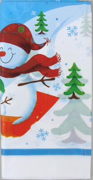 テーブルウェア クリスマスパーティー 店舗装飾 飾りつけ 雪だるま テーブルクロス 子ども会 英語教室 クリスマス会 期間限定お試し価格 クリスマス テーブルカバー ゆきだるま スレッジスノーマン あす楽 2点までネコポスOK 飾り付け ペンギン 137cmX259cm ビニール製 安心と信頼 ライトブルー 撮影小物 1枚
