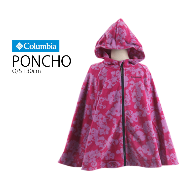 5724 JPY JPY 5151 [Columbia (Colombia) youth Buckeye Springs poncho (pop  post / dot pattern / face Nergaard / cold / food / clean mouth /