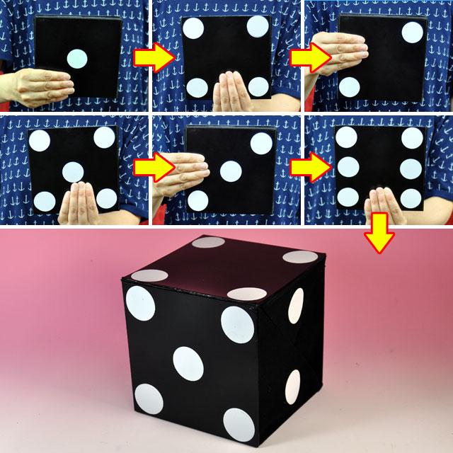 ◆マジック・手品◆カード トゥ ジャンボダイス◆K5751
