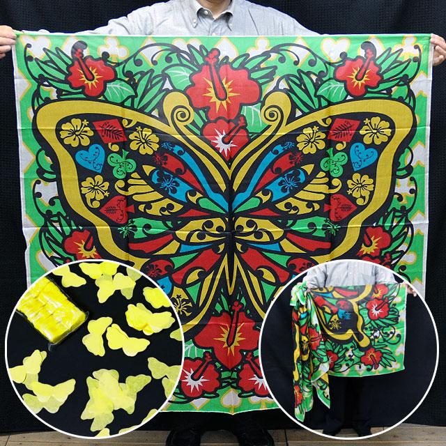 ◆マジック·手品◆ブレンドシルク「蝶」胡蝶の舞付(特上品 LLサイズ)◆S8529