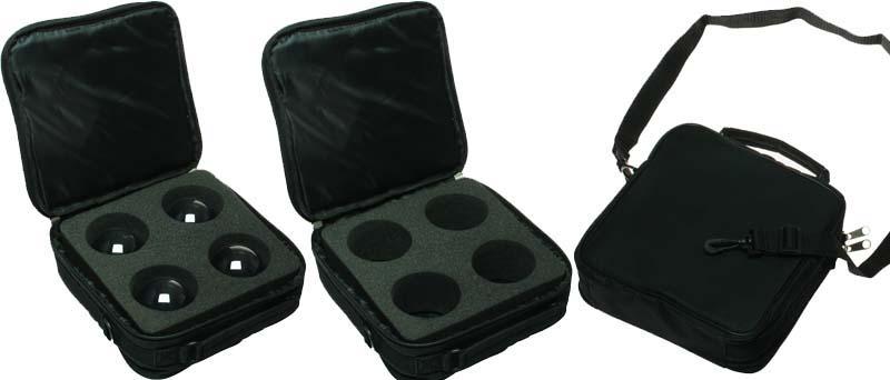 引出物 高級品 76mmを4個収納できる専用のケース型バッグ ジャグリング関連 クリスタルボール収納ケース+76mm4個 87498239-2