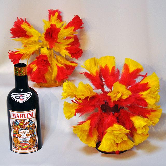 ◆マジック・手品◆2つの花束になるマティーニボトル◆F5725