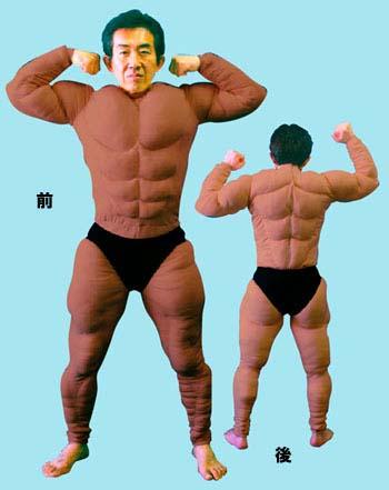 ●格闘技・相撲衣装・グッズ系●筋肉スーツ(ブラウン)●PV110444