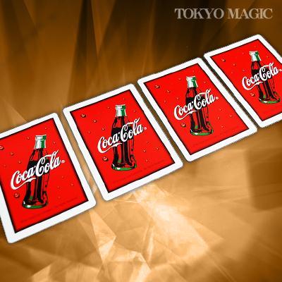 誕生日/お祝い カードの裏面が青から赤裏に変わり コーラ カードに変る マジック関連 送料無料新品 ACS-1704 コカ カード