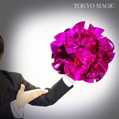 ●手品・マジック関連●メタリック・クス玉・ピンク(特大)●ACS-922