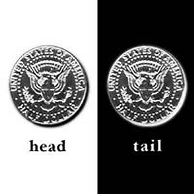 10%OFF 両面が裏面の特製コイン 様々なアイデアを具現化できます 手品 マジック関連 ダブル ER-06 ハーフ 好評 テイル