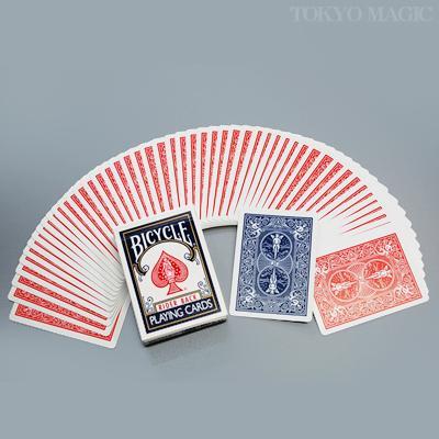 カードに絵柄のない片面が赤裏でその裏面が青裏のカード 手品 マジック関連 至上 ダブルバックカード 赤裏青裏 P-21B8 バイシクル 出群
