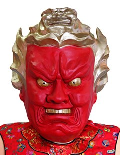 怒っているマスク 変身 メーカー公式 正規取扱店 マスク かぶり物関連 051252 仁王