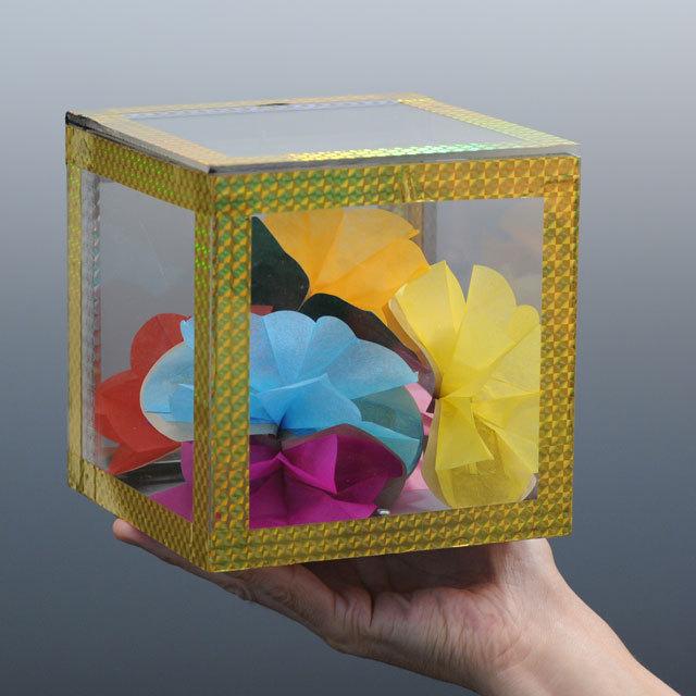 ◆マジック・手品◆透明 出現ボックス◆V5623