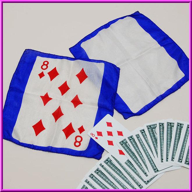 ◆マジック・手品◆カードシルク セット(ダイヤの8)◆S4208