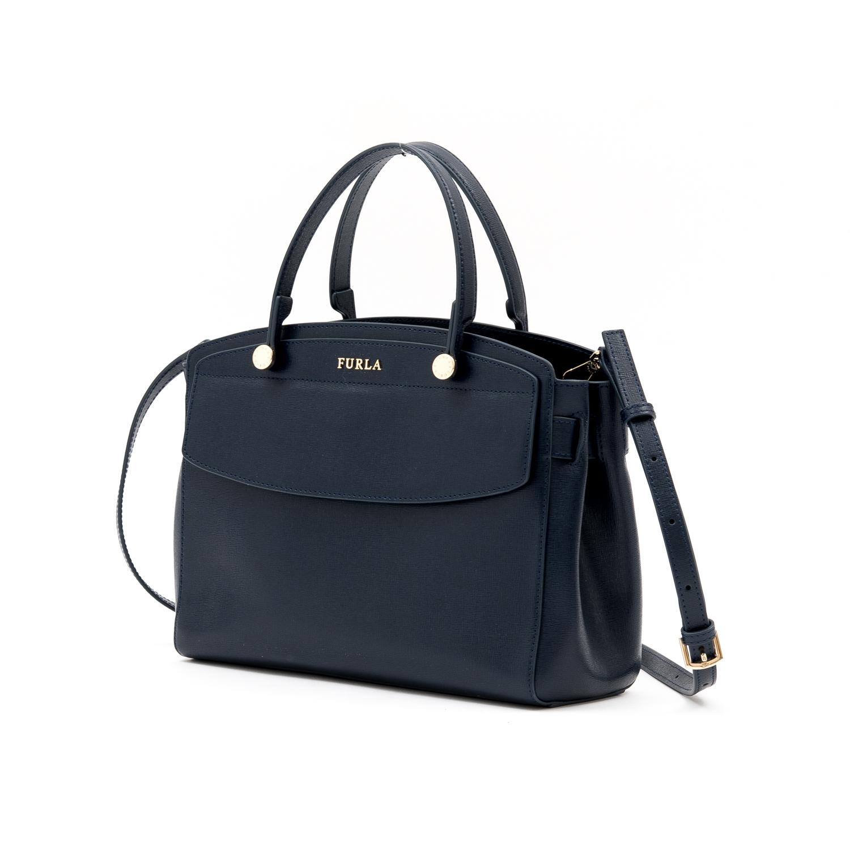 ワンランク上の大人な女性を目指すならこのフルラ 日本未発売 FURLA フルラ バッグ STELLA M BLU d 斜め掛けトートバッグ かばん 大人 おしゃれ 鞄 肩がけ アウトレット A4 定番キャンバス 肩掛け ハンドバッグ