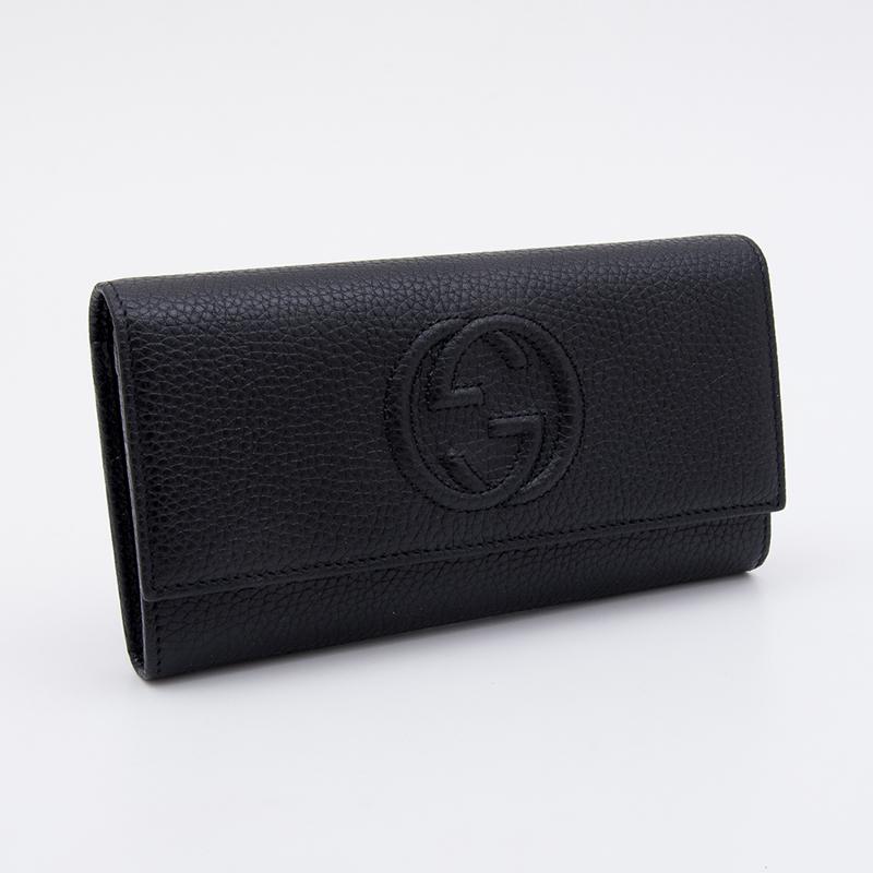 インターロッキングGがアクセントになったGUCCIのシンプルなデザインの長財布 GUCCI グッチ ソーホー 爆売り 長財布 メンズ 与え 黒 レディース GGロゴ 598206a7m0g1000 ブラック