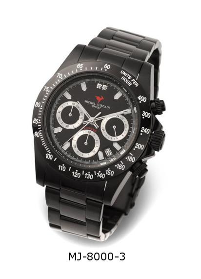 『ミッシェル ジョルダン 腕時計 クロノグラフ メタルベルト MJ-8000各種』送料無料天然ダイヤモンド お誕生日、クリスマスプレゼントにも ミッシェル ジョルダン 腕時計 クロノグラフ メタルベルト MJ-8000各種(割引不可)