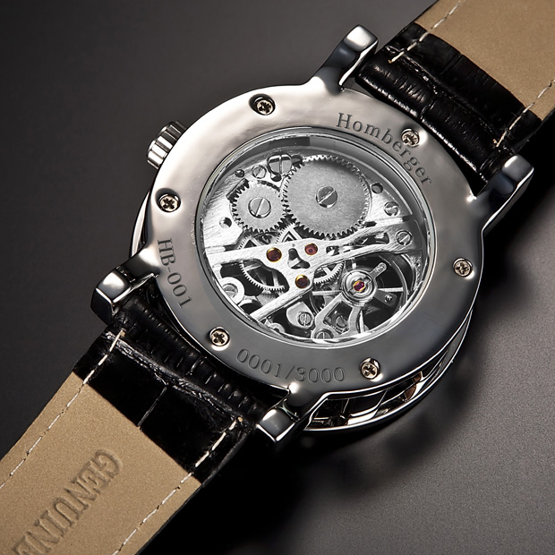 『Homberger(オムバーガー) 天然ダイヤ クラシックダブルスケルトン時計』送料無料腕時計 ウォッチ Homberger(オムバーガー) 天然ダイヤ クラシックダブルスケルトン時計