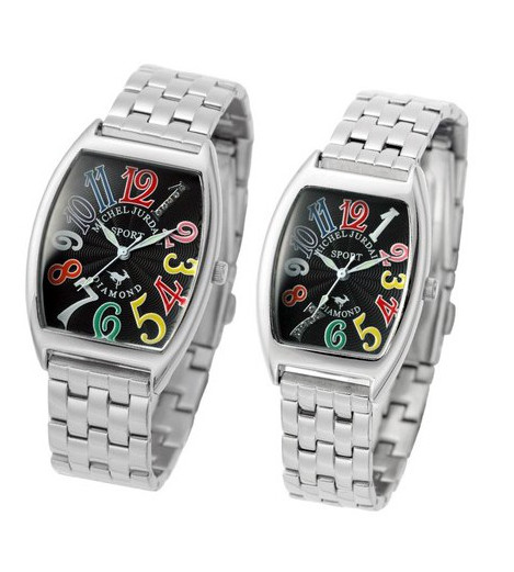 『ミッシェル ジョルダン ペアウォッチ SG1000A-2B SL1000A-2B』送料無料腕時計 トノー 天然ダイヤモンド メタルベルト お誕生日、クリスマスプレゼントにも ミッシェル ジョルダン ペアウォッチ SG1000A-2B SL1000A-2B(割引不可)