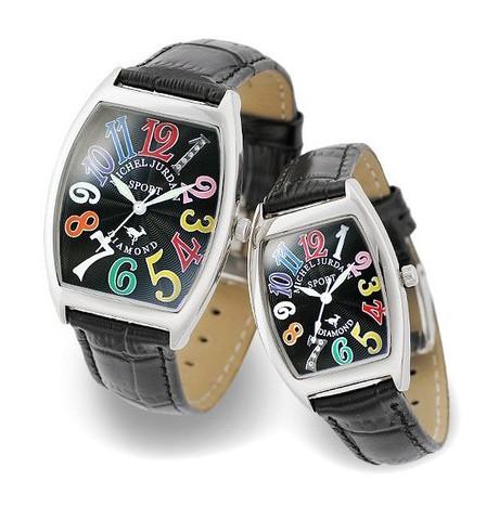 『ミッシェル ジョルダン ペアウォッチ SG1000-7 SL1000-7』送料無料腕時計 トノー 天然ダイヤモンド レザーベルト お誕生日、クリスマスプレゼントにも ミッシェル ジョルダン ペアウォッチ SG1000-7 SL1000-7(割引不可)P14Nov15