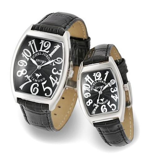 『ミッシェル ジョルダン ペアウォッチ SG1000-6 SL1000-6』送料無料腕時計 トノー 天然ダイヤモンド レザーベルト お誕生日、クリスマスプレゼントにも ミッシェル ジョルダン ペアウォッチ SG1000-6 SL1000-6(割引不可)P14Nov15