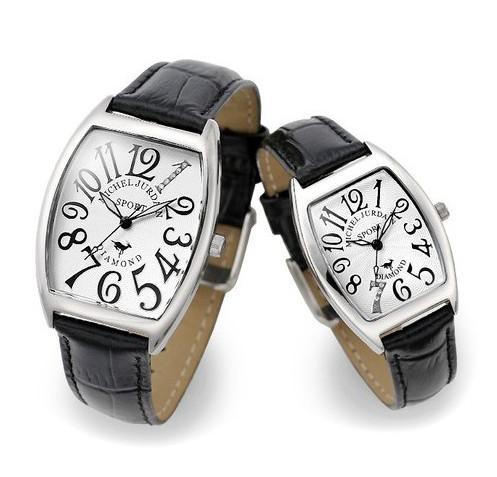 『ミッシェル ジョルダン ペアウォッチ SG1000-11 SL1000-11』送料無料腕時計 トノー 天然ダイヤモンド レザーベルト お誕生日、クリスマスプレゼントにも ミッシェル ジョルダン ペアウォッチ SG1000-11 SL1000-11(割引不可)