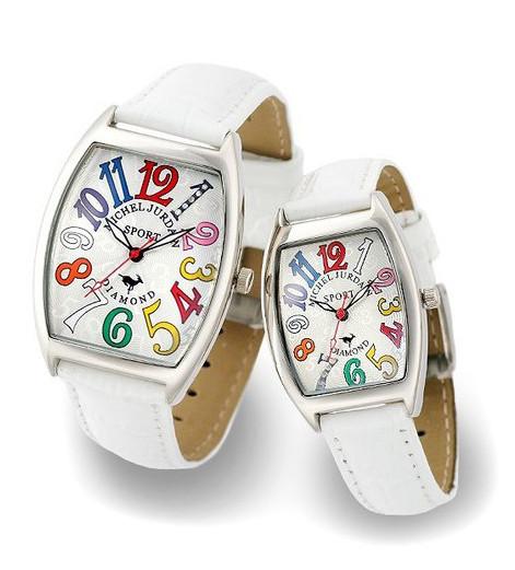 ジョルダン ペアウォッチ ジョルダン 『ミッシェル ミッシェル SG1000-10 レザーベルト ペアウォッチ お誕生日、クリスマスプレゼントにも SG1000-10 SL1000-10』送料無料腕時計 SL1000-10(割引不可) トノー 天然ダイヤモンド