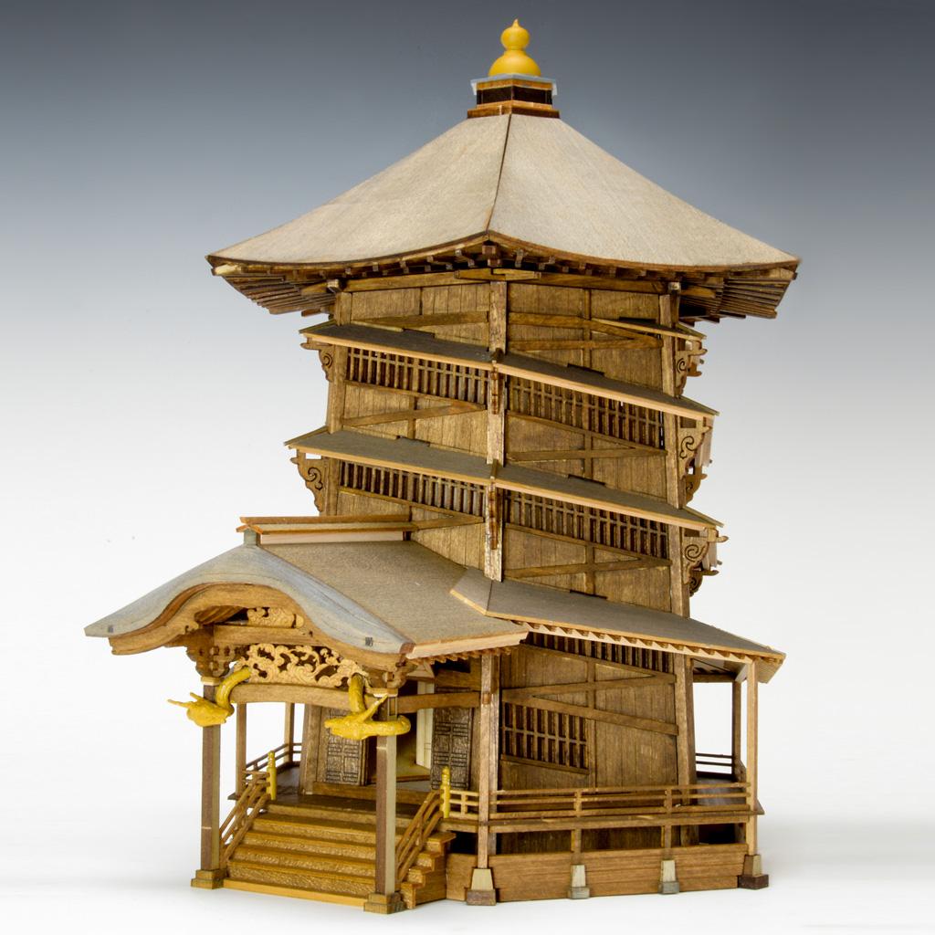 【メーカー直送・大感謝価格】木製建築模型 1/75 会津さざえ堂