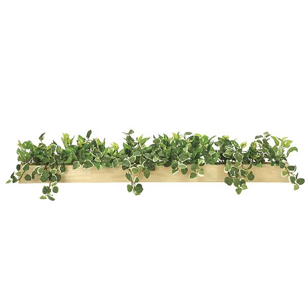 【メーカー直送・大感謝価格 】ボックスウッドSL 938A150 光触媒人工植物 光の楽園 2019 W90×D20×H18cm
