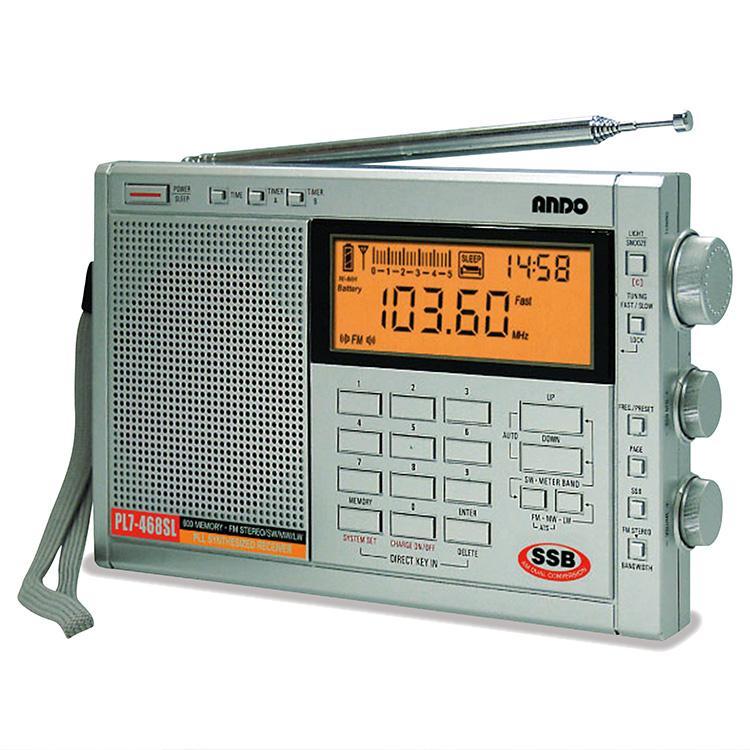 【大感謝価格 】AM・FM・ワイドFM・SW・LW対応 高感度シンセサイザーラジオ PL7-468SL W18.8×H11.6×D3.1cm 449g