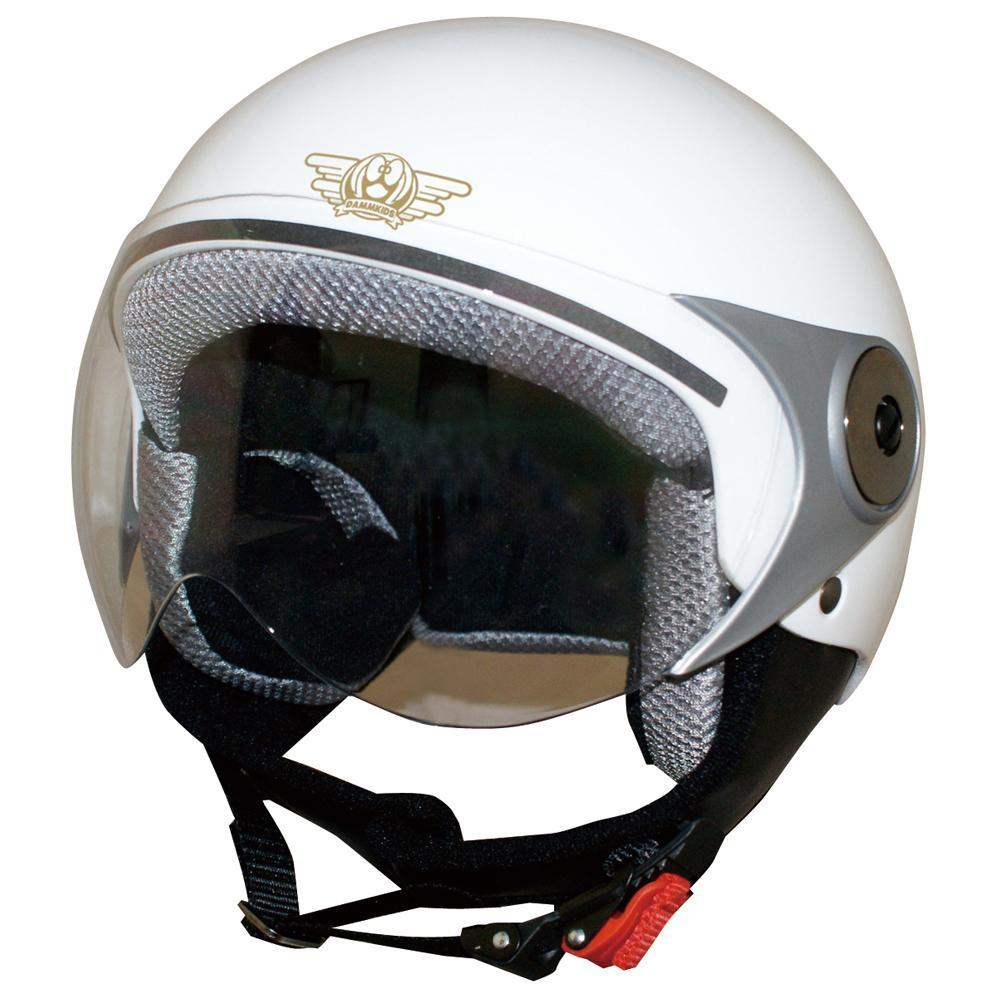 ダムトラックス(DAMMTRAX) バイクヘルメット ダムキッズ ポポGT WHITE【割引不可・返品キャンセル不可】