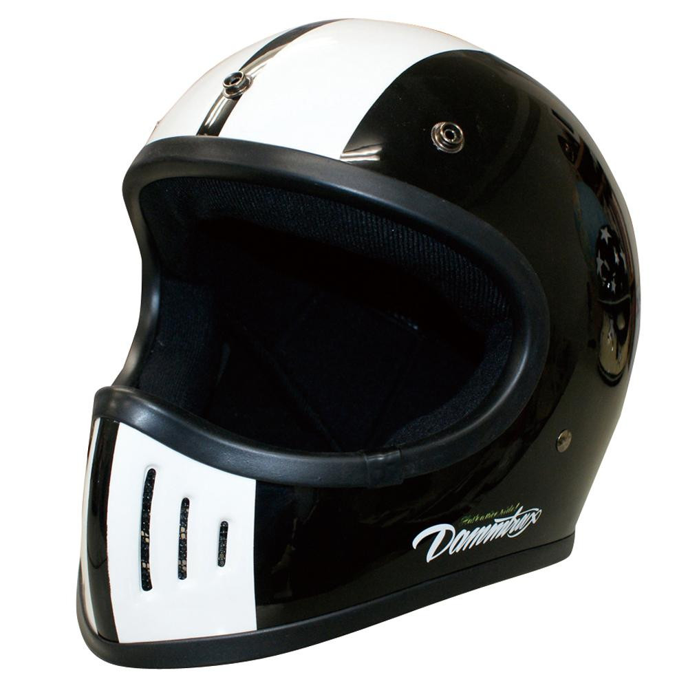 ダムトラックス(DAMMTRAX) バイクヘルメット THE BLASTER COBRA-改 BLACK L【割引不可・返品キャンセル不可】