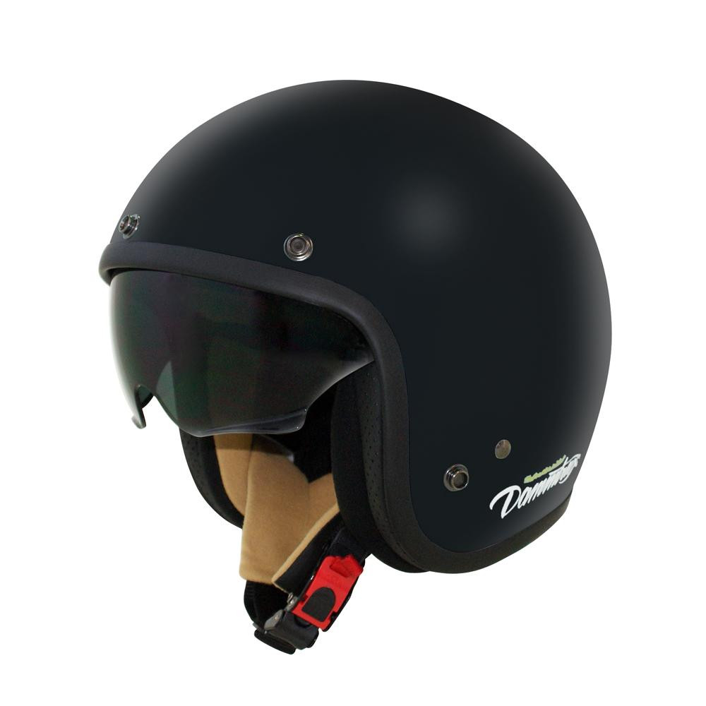 ダムトラックス(DAMMTRAX) AIR MATERIAL ヘルメット FLAT BLACK LADYS【割引不可・返品キャンセル不可】