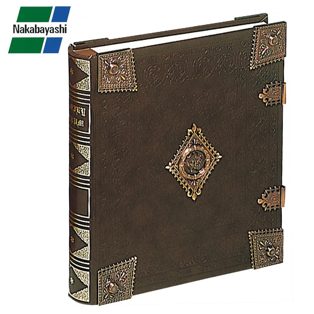 ナカバヤシ ブック式フリーアルバム グレートハイネス ブラウン アH-GL-1801-BR【割引不可・返品キャンセル不可】