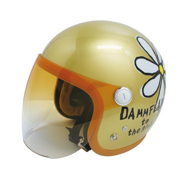 ダムトラックス(DAMMTRAX) フラワージェット グランデ ヘルメット CHAMPAGNE GOLD【割引不可・返品キャンセル不可】
