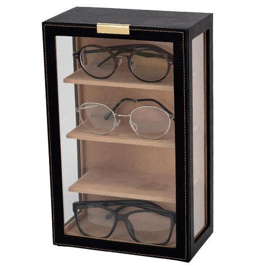 茶谷産業 Elementum(エレメンタム) メガネタワー(コレクションケース) 4本用 240-453ケース 眼鏡 めがね【割引不可・返品キャンセル不可】