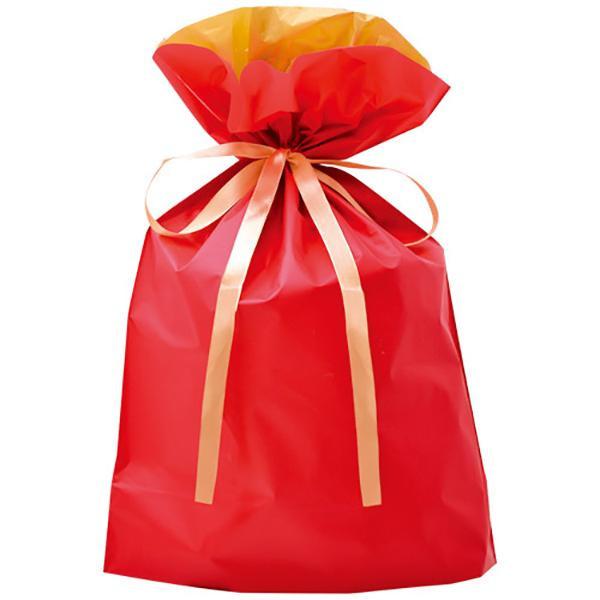 ササガワ タカ印 50-3559 巾着袋 レッド 大 50P【割引不可・返品キャンセル不可】