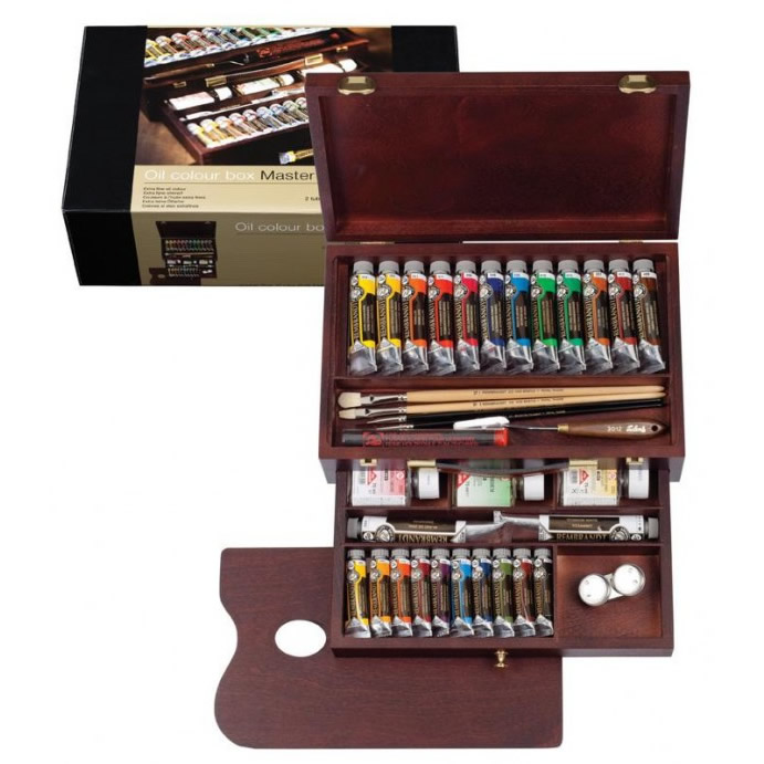 REMBRANDT レンブラント油絵具 ラグジュアリーボックス24色セット T0184-0002 410863【割引不可・返品キャンセル不可】