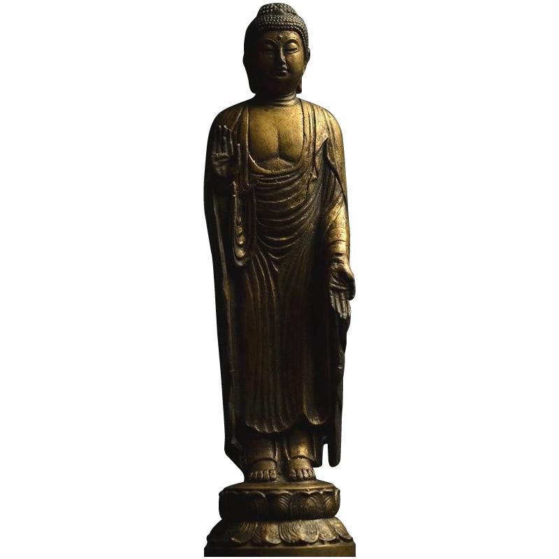 釈迦如来 金銅仏仕上げ 50173置物 仏像 お釈迦様【割引不可・返品キャンセル不可】