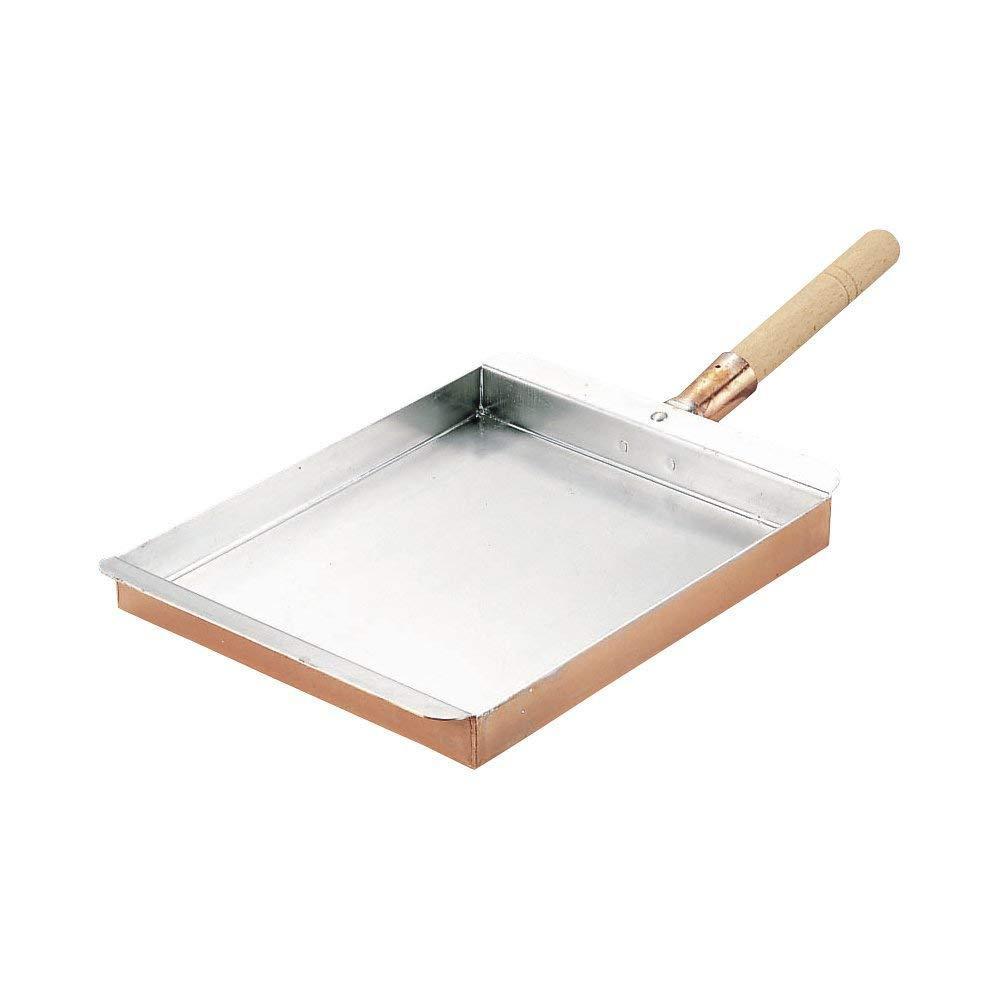 マル新 銅玉子焼関西型 M 24cm 016024-010【割引不可・返品キャンセル不可】