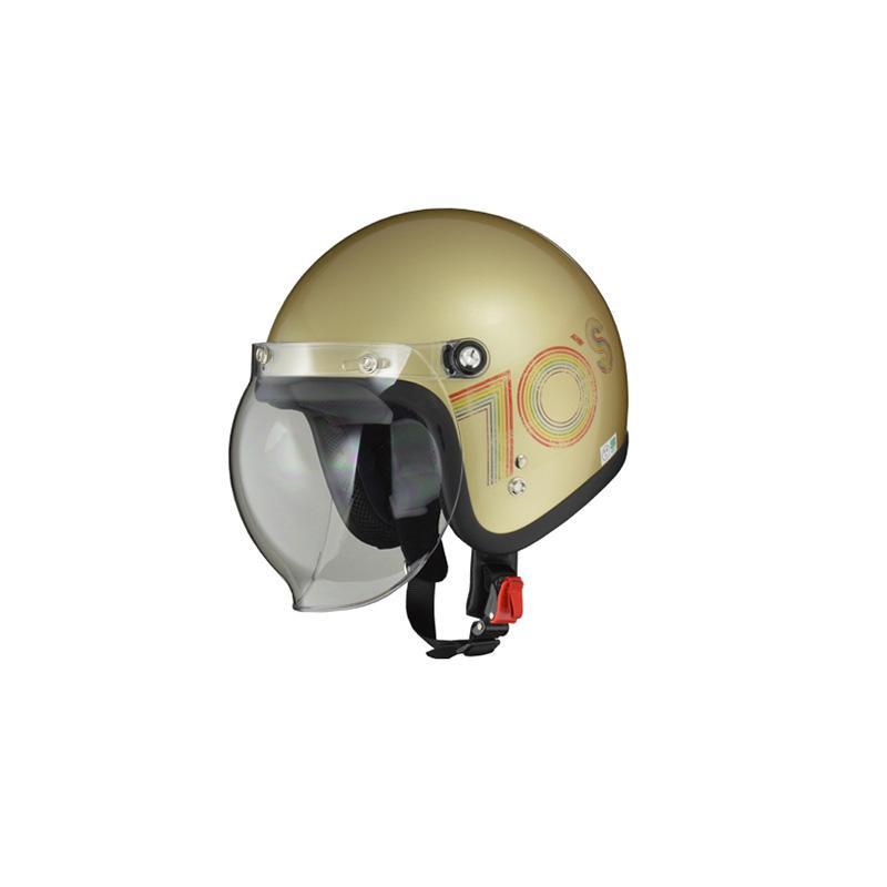 リード工業 LEAD MOUSSE ジェットヘルメット 70'sゴールド フリーサイズ【割引不可・返品キャンセル不可】