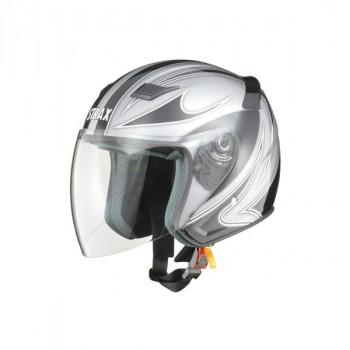 リード工業 STRAX ジェットヘルメット シルバー Lサイズ SJ-9【割引不可・返品キャンセル不可】