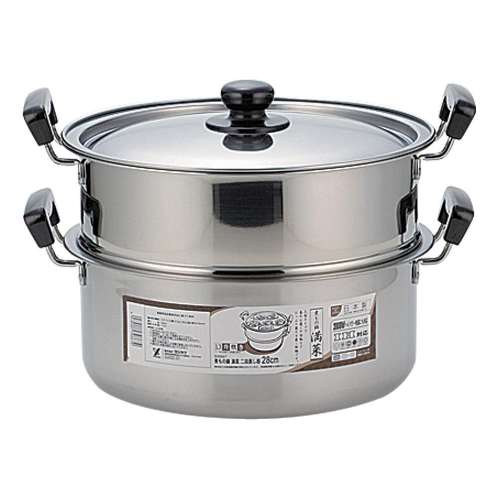 蒸しもの鍋 満菜 二段蒸し器 28cm SH9867【割引不可・返品キャンセル不可】