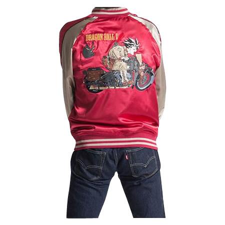ドラゴンボールZ メンズスカジャン バイク柄 A21・レッド 1113-701【割引不可・返品キャンセル不可】