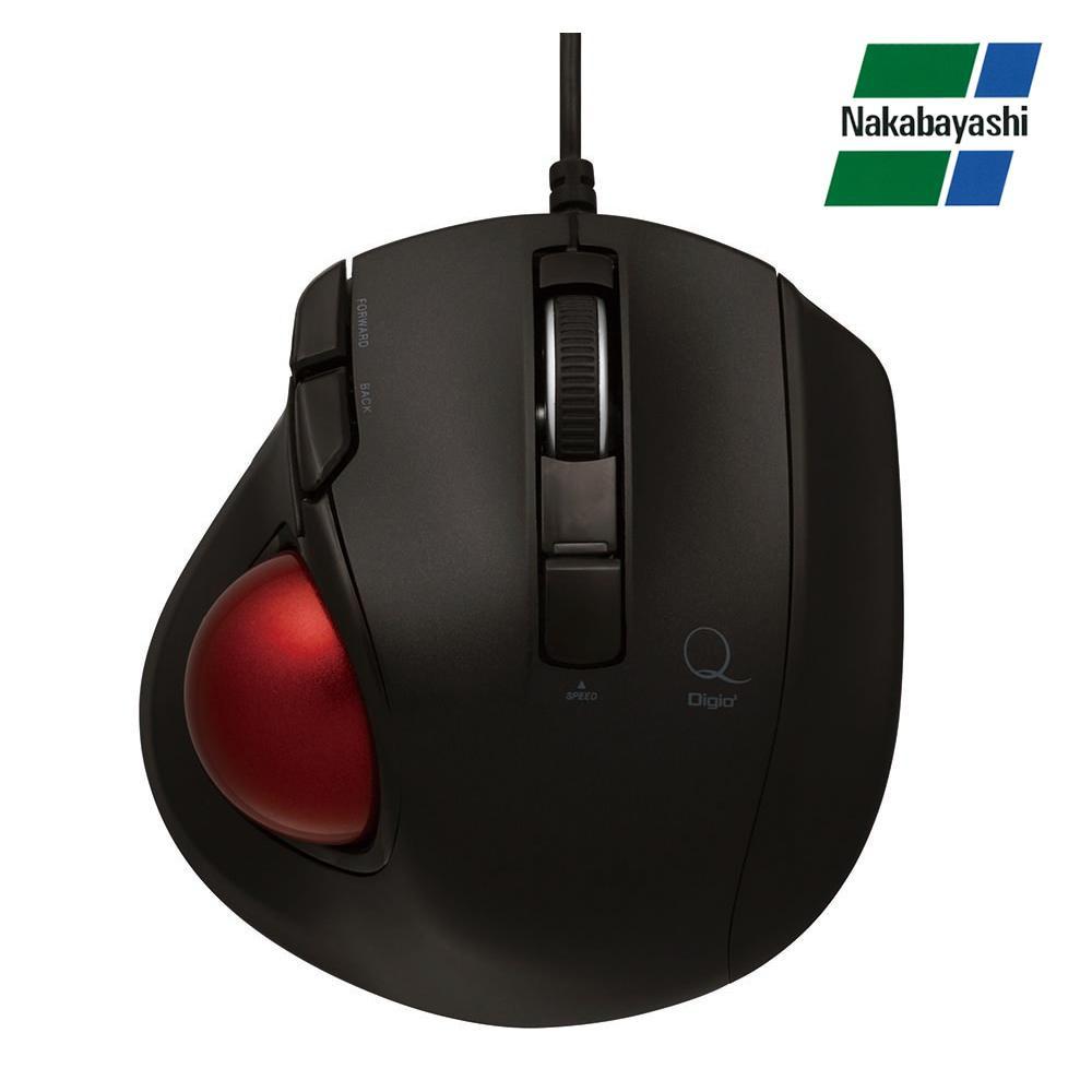 ナカバヤシ Digio2 極小トラックボール「Q」 小型 有線 静音 5ボタントラックボール ブラック MUS-TULF133BK【割引不可・返品キャンセル不可】