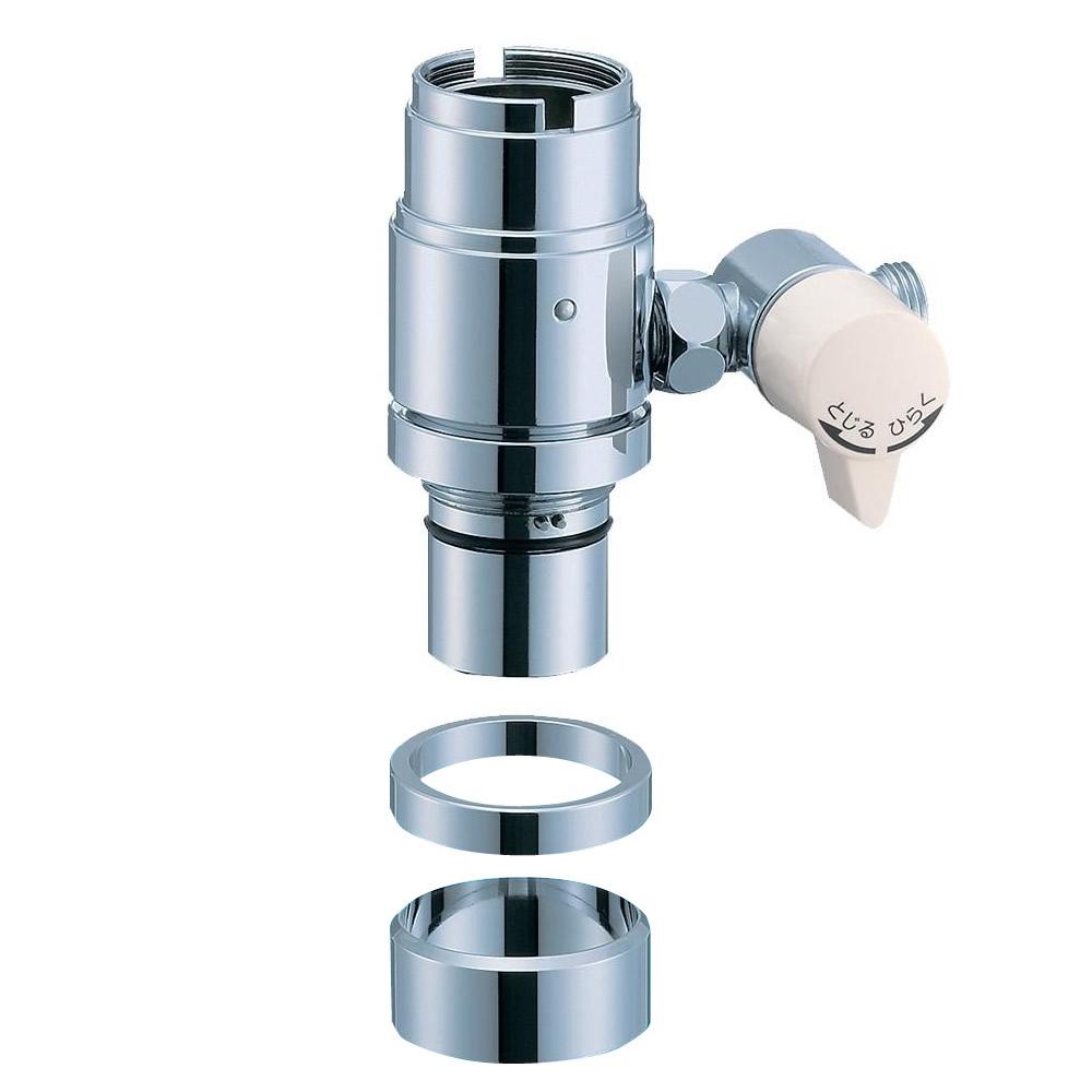 三栄水栓 SANEI シングル混合栓用分岐アダプター SAN-EI用 B98-B【割引不可・返品キャンセル不可】