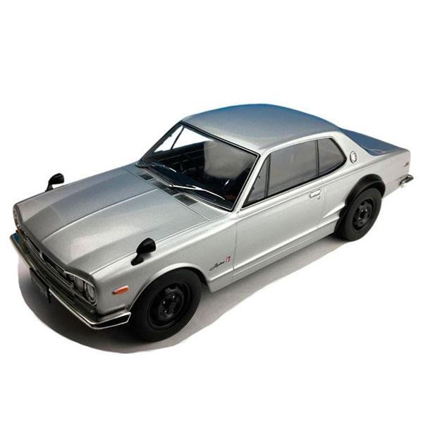 First18/ファースト18 日産 スカイライン GT-R (KPGC10) シルバー 1/18スケール F18001スポーツカー インテリア 置物【割引不可・返品キャンセル不可】
