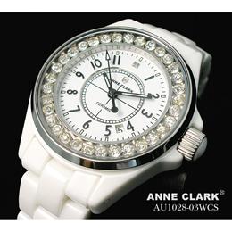 ANNE CLARK フルセラミック レディースウォッチ AU1028.03WCS【取り寄せ品キャンセル返品不可、割引不可】