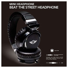 MINI 公式ライセンス品 HEAD PHONE 3.5ステレオプラグ MNHP104BL【取り寄せ品キャンセル返品不可、割引不可】