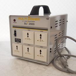 スワロー電機 【受注生産のため納期約2週間】100~240V対応 マルチ変圧器 2000W SU-2000【取り寄せ品キャンセル返品不可、割引不可】