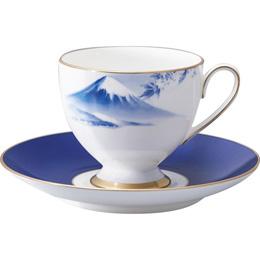 ナルミ 1客碗皿「霊峰 富士山」 B3020024【取り寄せ品キャンセル返品不可、割引不可】