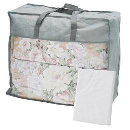 羽根布団バッグ入り(掛カバー付) ピンク【取り寄せ品キャンセル返品不可、割引不可】